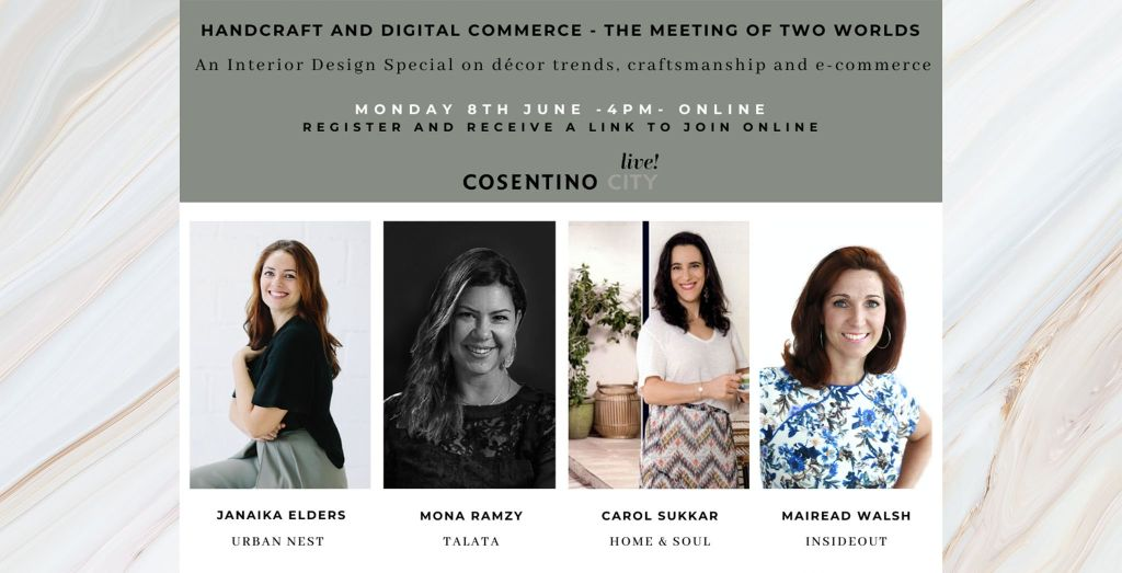 Join this e-event: Handcrafted design and digital commerce, hosted by InsideOut in partnership with Cosentino City live!