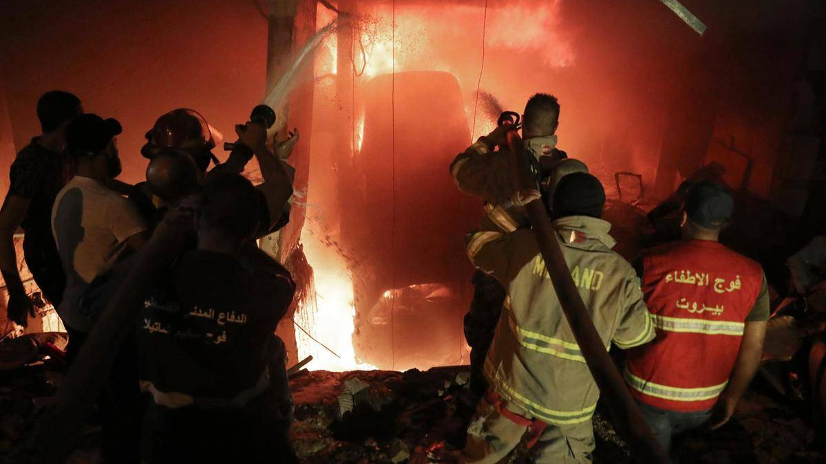 Video: Four killed in Beirut fuel tank fire and blast – News
