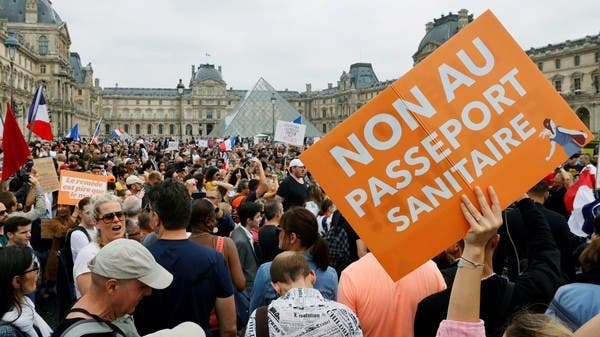 Thousands protest against forced COVID-19 vaccinations in France