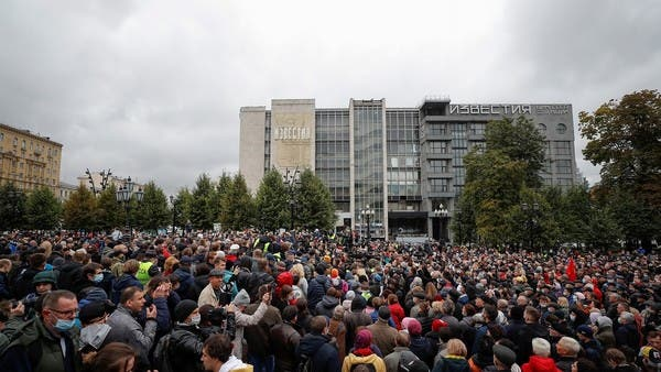 Hundreds of Russians protest in Moscow over last week's parliamentary elections