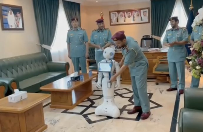 Video: UAE robocop gets official police badge; here is what it will do – News